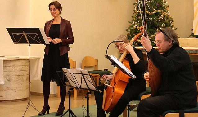 Het Vesta Ensemble vertolkt renaissance- en barokmuziek.FOTO: Hanny van Eerden