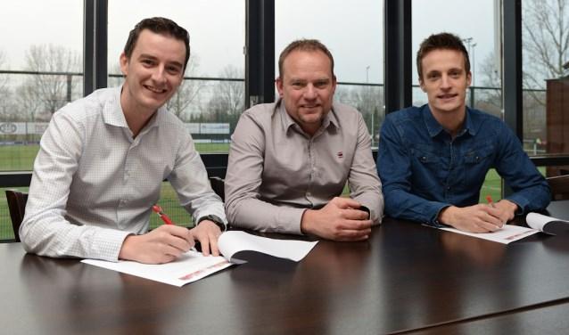 Vlnr.: Cees-Jan Crezee, Ron Noorlander en Dennis Bothoff. (Foto: Roelie 't Jong)