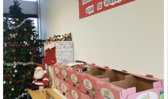 Leerlingen van basisschool De Dukdalf hebben al veel dozen verzameld voor de Voedselbank.