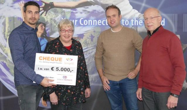 Van links naar rechts: Jordi van Essen, Nelly La Brijn, Alex van Herpen en Theo Nelissen.