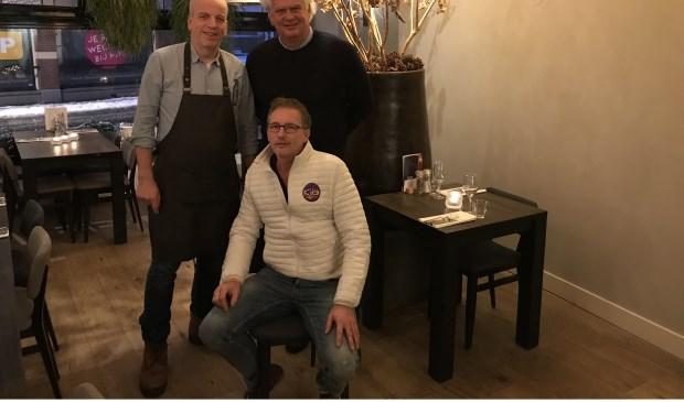 Op de foto Jos Boshuis, Robert van de Zwart en vooraan Jeroen Kooijman