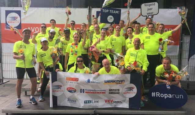 In juni kwam team Rivas Roparun met een geweldige donatie van 12.500 euro over de finish van de Roparun op de Coolsingel. Hopelijk kan het team ook in 2018 weer zo'n mooi bedrag ophalen.