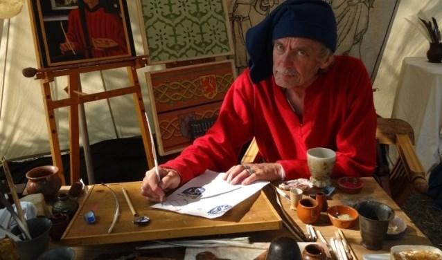Op woensdag 3, donderdag 4 en vrijdag 5 januari komen drie kunstenaars van het Kennemer Kunstgilde langs op kasteel Ammersoyen. Ze zijn er tussen 11.00 en 17.00 uur.