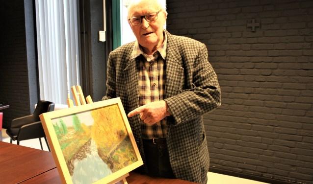 Gerard schildert vanaf zijn zeventiende. foto: Nico Kat