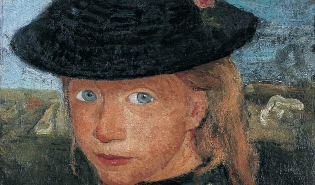 Dit werk is van Paula Modersohn-Becker en heet 'Meisje met blond haar en strohoed'. Foto: Kunst- en museumvereniging Wuppertal