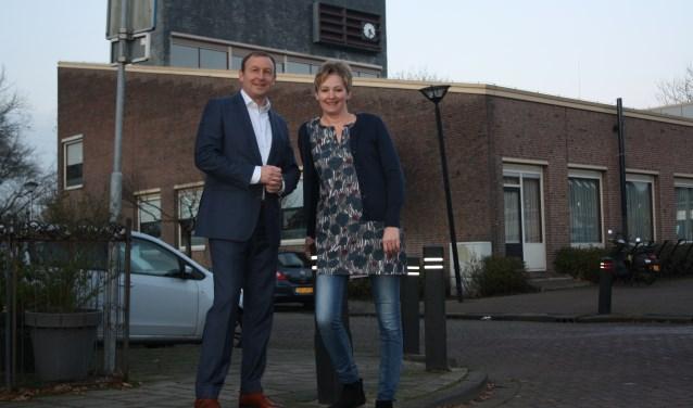 Sander Verloop en koster Jolanda Fentanes Morgan-Leeflang kijken uit naar de verbouwing van hun kerkgebouw in Bergschenhoek.