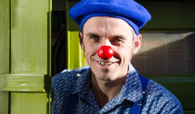 Clownspersonage Mimus speelt vanaf januari in Zeeuwse ziekenhuizen. FOTO: Carrie Frederiks