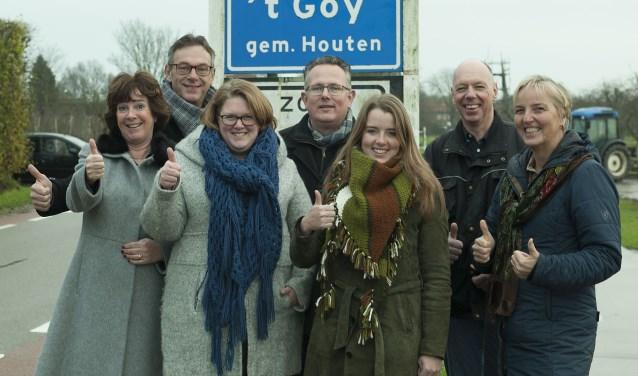 Klankbordgroep Mooi 't Goy die opkomt voor de belangen van het dorp.  Foto: Paul van der Klei.