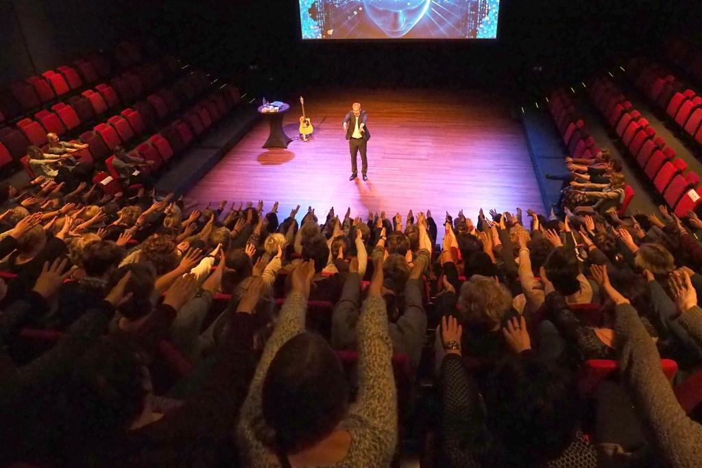 Interactie met het publiek Foto: Mark Rutten (GC) © Persgroep
