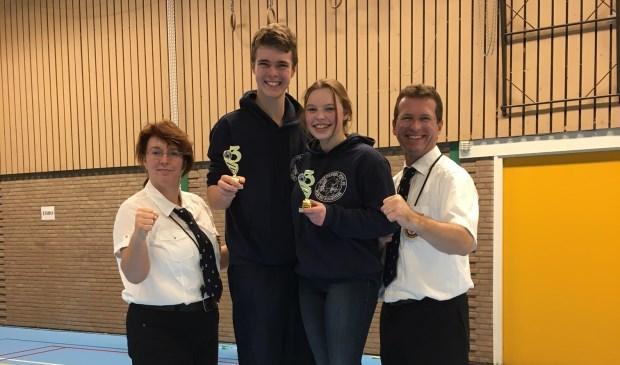 Renske en Rick eindigden beide als derde in hun categorie op de Nederlandse Kampioenschappen Kyokushin Karate voor jeugd en beginners.