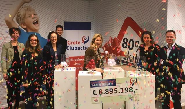 Op de foto een van de winnende clubs. De Grote Clubactie is een landelijke activiteit met dit jaar 5.500 deelnemende verenigingen.