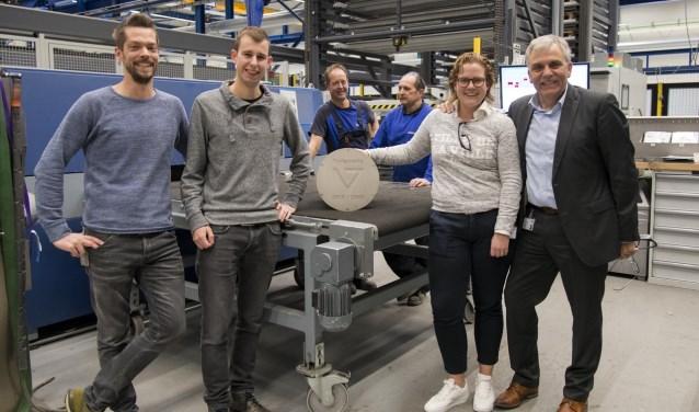 V.l.n.r. Maarten van den Hoogen, Stijn Peters, Michelle Peters en Anton de Weerd.