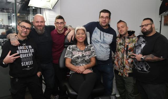 Onny Somboon (midden) met haar Italiaanse collega's. (foto: Marco van den Broek)