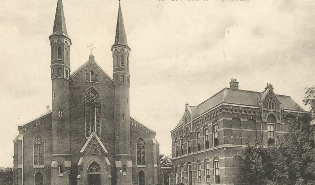 De oude Sint Johannes de Doper kerk in Montfoort