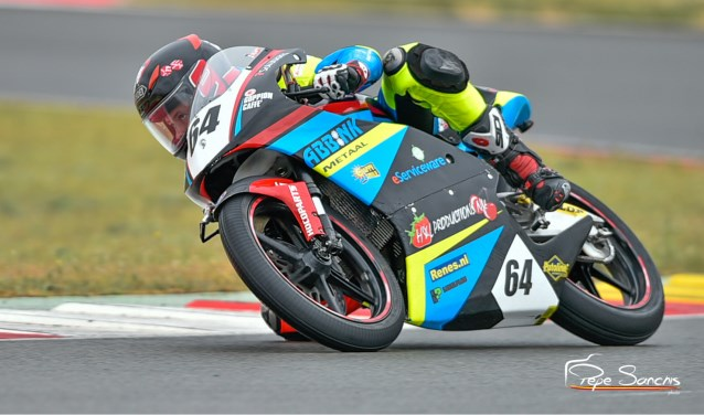 Colin Velthuizen: weer actief in de Moto 3 klasse.