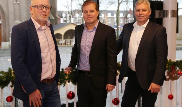 Wethouder Van Daal, burgemeester Walraven en wethouder Van den Boogaart (Foto: Marco van den Broek).
