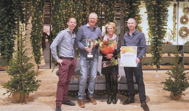 V.l.n.r.: Nico Nusselder, Gerard Niesink, Karin Boon en Wouter Nusselder.
