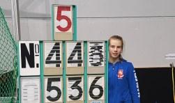 Bij het verspringen kwam maar liefst 5.36 meter op de borden, wat haar meteen Nederlands ranglijstaanvoerdster maakt op deze discipline.