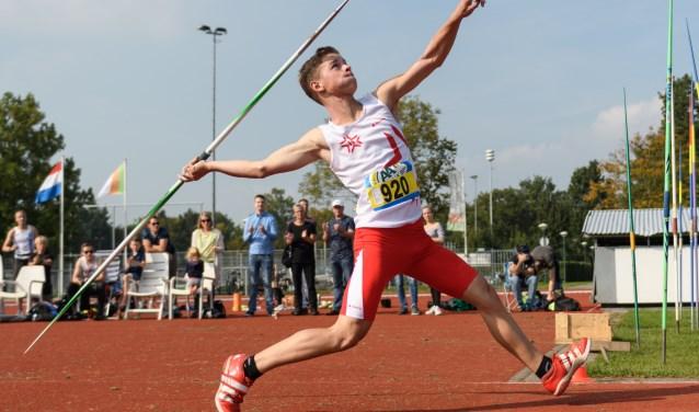Willem Veldpaus in actie tijdens zijn recordwedstrijd. Eigen foto