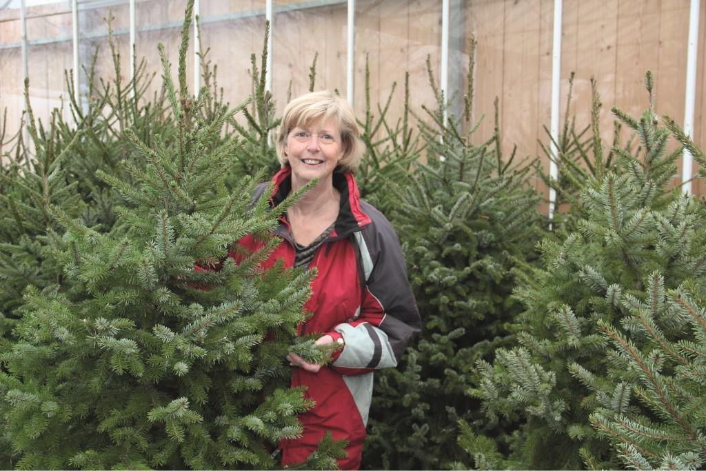 Marian Kampschreur staat dit jaar voor het laatst tussen de kerstbomen.