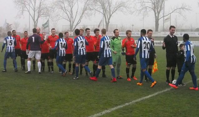 Smitshoek kwam ook zaterdag niet verder dan een gelijkspel tegen RVVH. (Foto en tekst Jan Timmer)