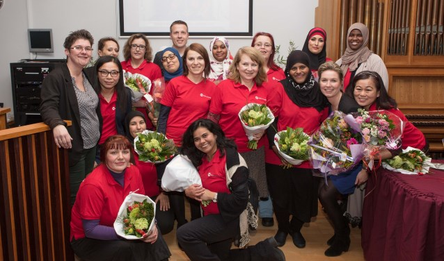 Voor vijftien deelnemers van WijkLeerbedrijf IJsselstein was het groot feest.