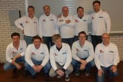 Het kampioensteam van damvereniging VBI uit Huissen dat voor de 14de keer nationaal kampioen werd. (Foto: Joop Hendriksen)