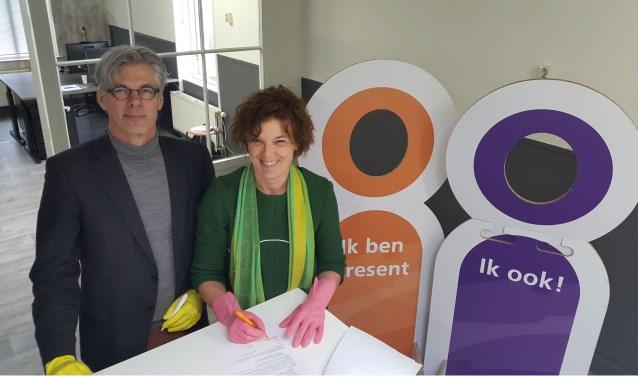 Op 8 maart ondertekenden Liesbeth van Asten, directeur-bestuurder van Rentree en Frits Schutte, bestuurslid Present Deventer, een samenwerkingsconvenant.