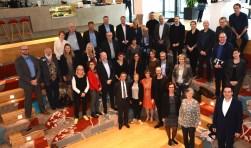 Groepsfoto met de Zweedse delegatie en vertegenwoordigers van Regio FoodValley.