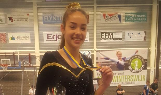 Carmen Baks werd derde bij de junioren.