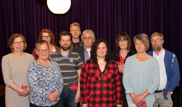 Derde van rechts is Hannie Rouweler. (Foto: John van Halderen)