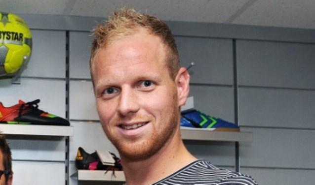 Regerend Gouden Schoen winnaar Niels Schweckhorst scoorde tweemaal namens GWVV. (foto: Roel Kleinpenning)