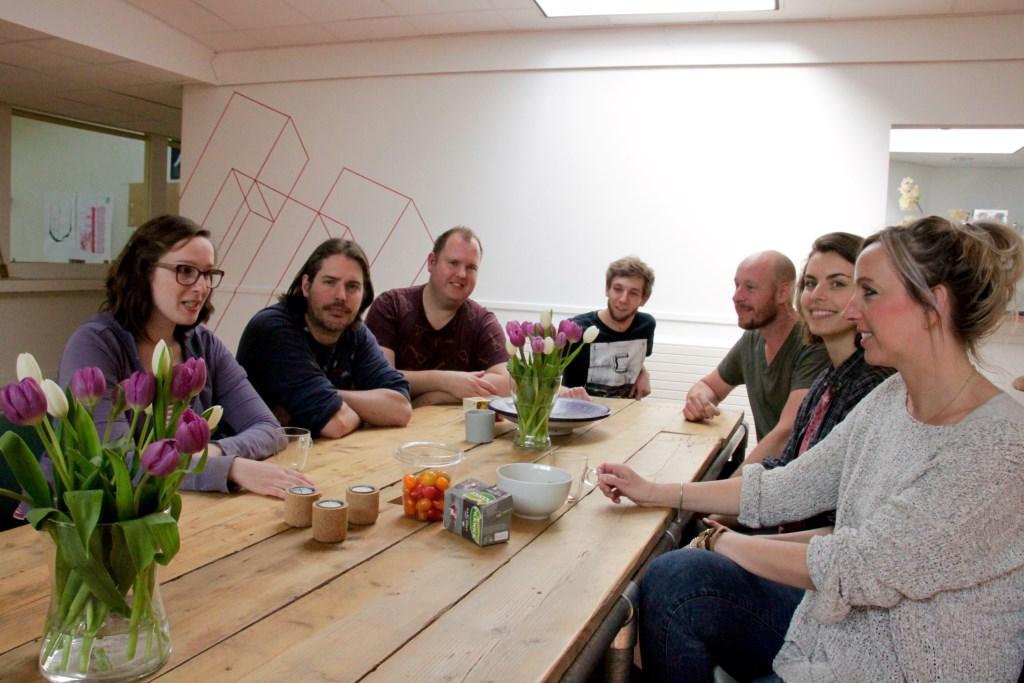 De ondernemers van de kunstwerkplaats Open Lokalen. Foto: Eveline Zuurbier