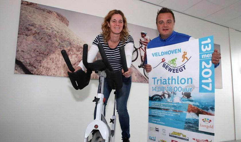 Organisatoren Minette Lommers en Clemens Josiassen willen sport voor iedereen toegankelijker maken. FOTO: Theo van Sambeek.
