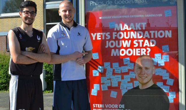 YETS-deelnemer Mücahit Aktas en YETS-oprichter Peter Ottens. (Foto: Britt Planken)