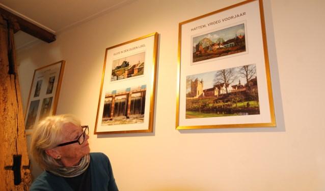 Iet Erdmann toont het werk van fotografen Leo Lamboo en Kees van Eijsden. Foto: Voerman Museum Hattem
