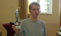 Frank ten Hagen eindigde als derde op het snelsdamtoernooi.