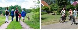 WF Naobertochten voor wandelaars en fietsers.