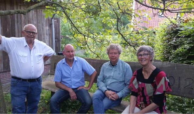 Dinant Eggink, Arie Schoemaker, Wim Korsten en Gea Boessenkool (vlnr) zijn betrokken bij WCL. Foto en tekst: Han van de Laar