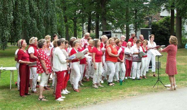 Tijdens de 50+ Fair in het park van Kasteel Stapelen was van alles te zien, te horen en te beleven. FOTO: Ad van de Wetering