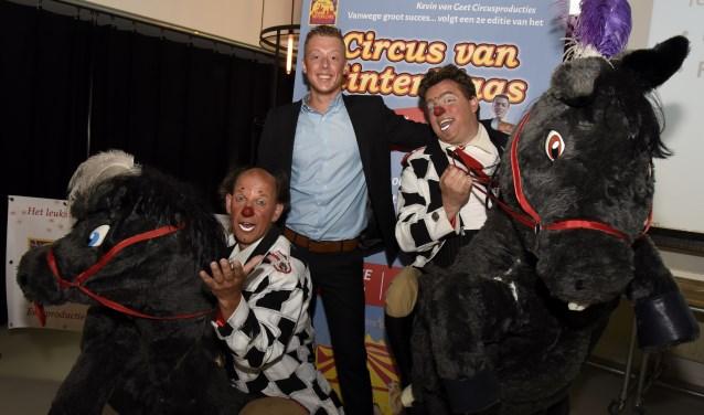 De Przewalskipaarden stelen de show tijdens de presentatie van het Circus van Sinterklaas. Foto: Marianka Peters