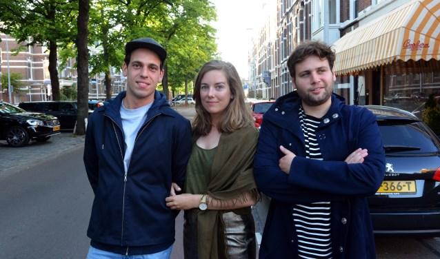 Van links naar rechts, Wouter Paijmans, Fenna Lampe en Jules van de Langenberg