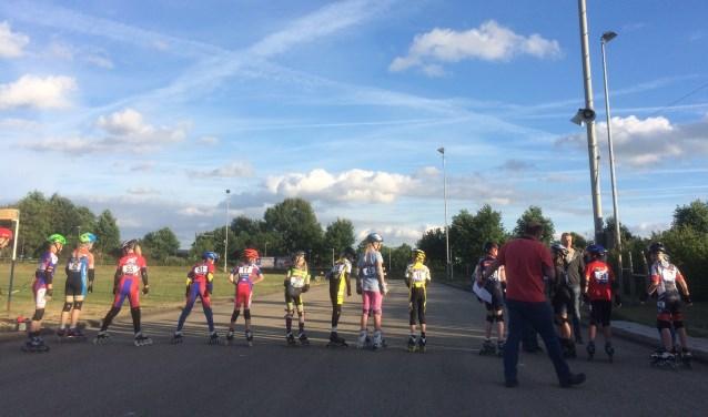 Veertig deelnemers stonden er aan de start bij de derde editie van de Kelderman Inline Cup. (Foto: Stephan Hulleman)