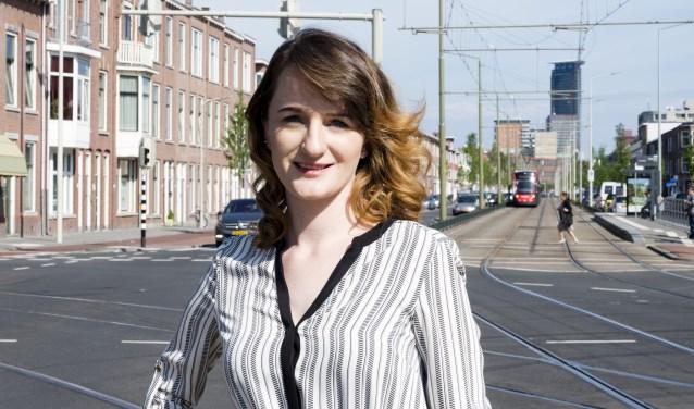 Tandarts Amelia Pazera op de grens van Rijswijk en Den Haag/ Foto: Kim Bosch