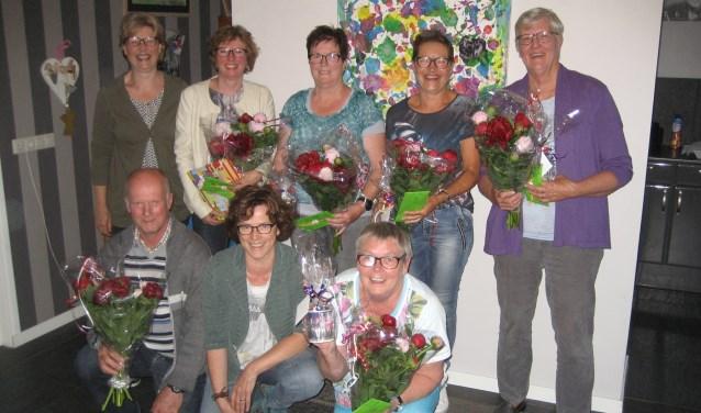 Het jubilerende damesvijftal van HaMiWo. Foto PR