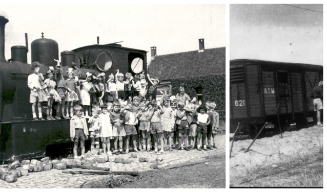 De laatste stoomtram verlaat Barendrecht. (foto midden: archief gemeente Barendrecht; andere foto's: collectie Historische Vereniging Barendrecht