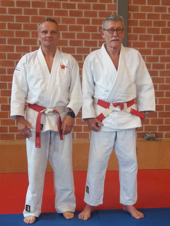 Rene Lange (links) naast Wim van Vorstenbos.