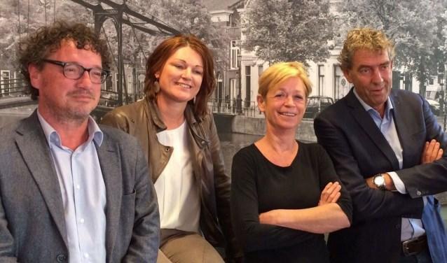 Directieleden Roel van Tongeren, Pepita Breugem en Minke de Jong en bestuurder Ben de Koning zijn trots op hun medewerkers.