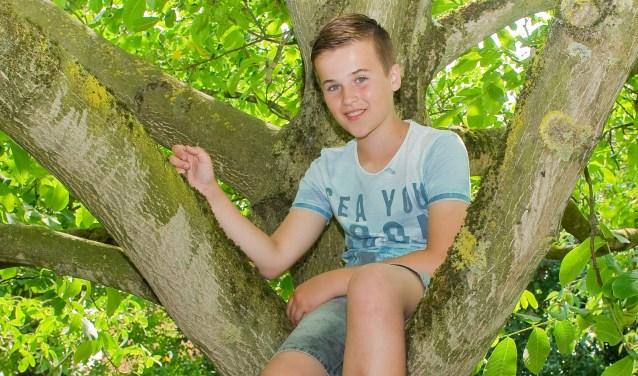 De twaalfjarige Niels uit Nijmegen staat samen met de andere drie leden van boyband Fource in de halve finale van het Junior Songfestival. (Foto: Maaike van Helmond)