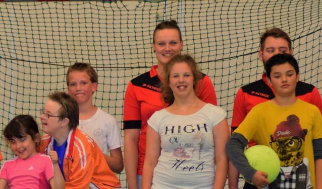 Judith Overhein moet nog wel wat wennen aan haar nieuwe functie binnen het Zwolse gehandicapten voetbal